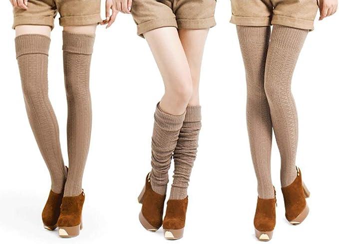 Lsjuee Scoo-by-Doo chaussettes hautes sur le genou collants longs bas genou jambi/ères hautes hommes et femmes chaussettes d/écontract/ées