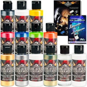 11 CREATEX Wicked Colors 2oz Pearl Airbrush Paint (Automotive Airbrush)