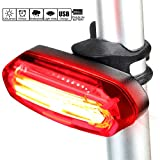 FAVOLOOK Bicycle Tail Light, Cycling Safety Flashlight – Ultra Bright, 6 Light Modes, USB Charging, Waterproof and Easy Install for Night Mountain/Road Riding Review