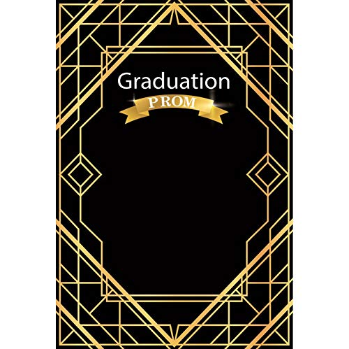 (Baocicco 6x9ft Graduation Prom Backdrop Graduation Season Black Background Champagne Cross Line Decor Graduation Prom Student School Graduation Kids Party Photography Thin Vinyl Props)