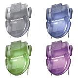ADVANTUS Panel Wall Clip for Fabric Panels, Standard Size, 40-Sheet Capacity, Box of 20, Assorted Metallic Colors (75338)
