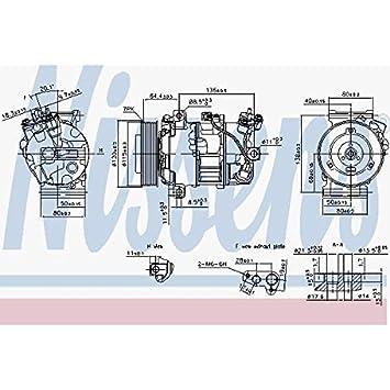 Nissens 890126 Compresor para Aire Acondicionado: Amazon.es: Coche y moto