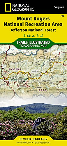Jefferson National Forest Trails (Mount Rogers National Recreation Area [Jefferson National Forest] (National Geographic Trails Illustrated Map))
