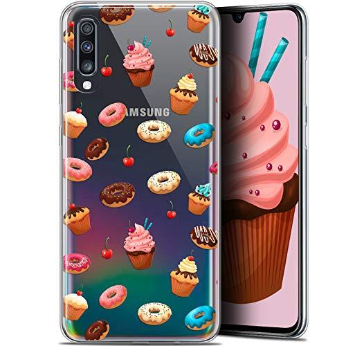 Caseink Hülle für Samsung Galaxy A70 (6.7) [Schutzhülle Case Gel HD Kollektion Foodie Design Donuts - Flexibel - Ultra dünn - Gedruckt in Frankreich]