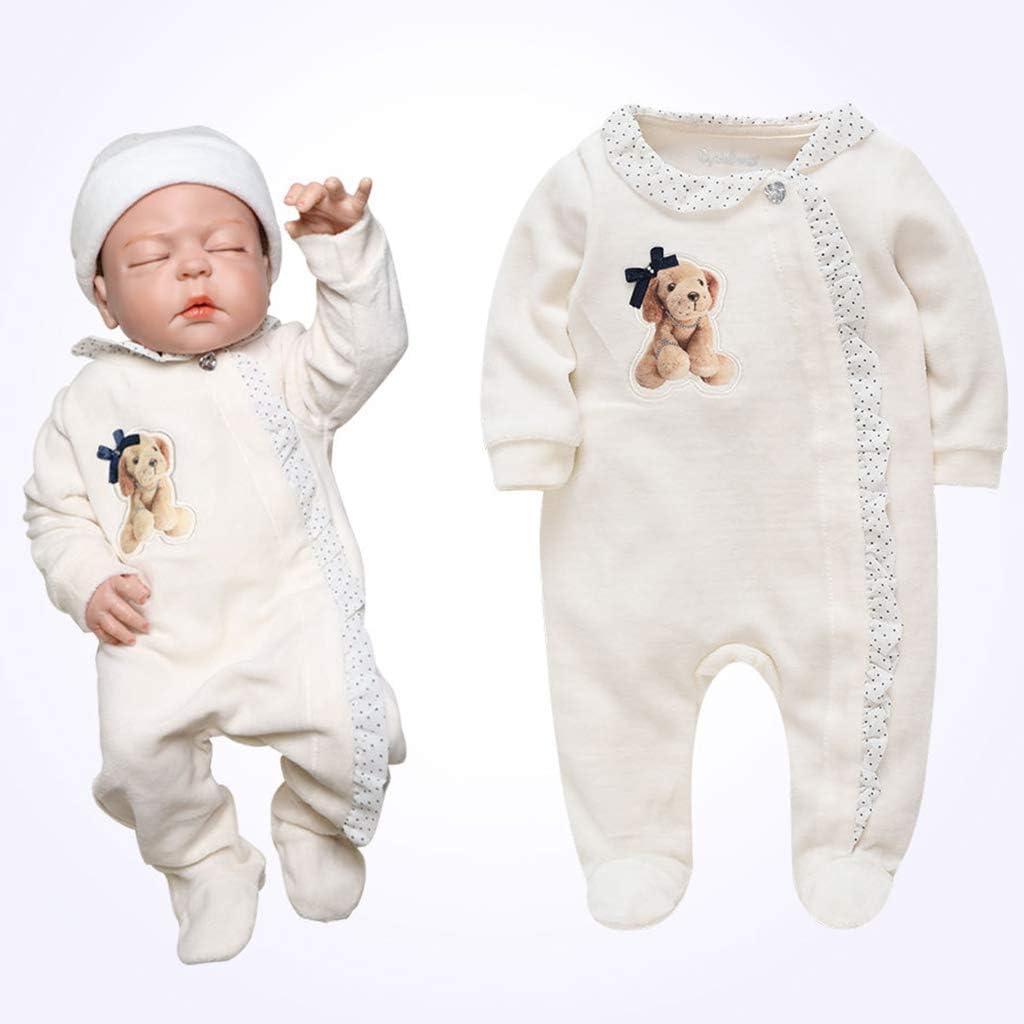 B/éb/é Combinaison Footies Barboteuses Pyjamas Velours Grenouill/ère Manches Longues Body 0-3 Mois