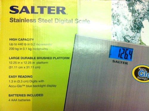 Bargain Salter Stainless Steel Digital Scale Accu-GloTM Backlight - 440 Lbs. saleoff