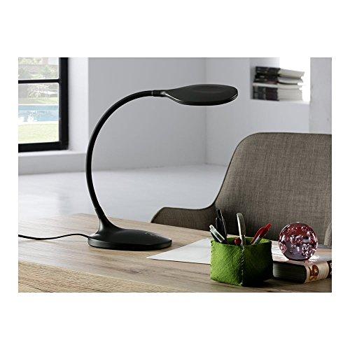 Schuller Spain 552764I4L Modern Black Swan Neck Table Lamp 1 Light Living Room, bed room, Study, Bedroom LED, Adjustable swan neck desk lamp | ideas4lighting by Schuller