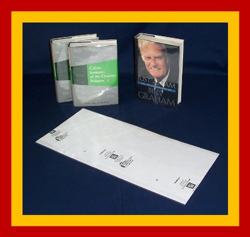"10 - 9 1/2"" X 20"" Brodart Fold-auf Book Covers -- Center-Loading, Adjustable, Clear Mylar"