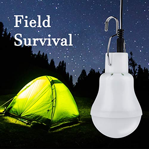 Solar Light Bulbs, Outdoor Indoor Home Chicken Coop Lights, Solar Powered LED Shed Lights, Camping Lamps for Tent (1 Pack)