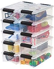IRIS 5 Quart Stack & Pull Box, 10 Pack