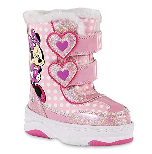 Disney Minnie Mouse Toddler Girls Pink Winter Boot (8 Toddler (Custom Made Disney Shoes)
