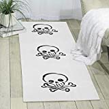 GDBADY Skull Domestic Sitting Room Bedroom Domestic Carpet