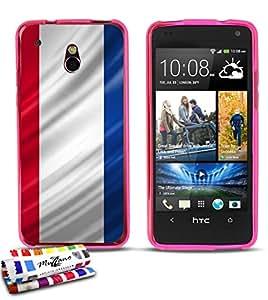 Carcasa Flexible Ultra-Slim HTC ONE MINI de exclusivo motivo [Paises Bajos Bandera] [Rosa] de MUZZANO  + ESTILETE y PAÑO MUZZANO REGALADOS - La Protección Antigolpes ULTIMA, ELEGANTE Y DURADERA para su HTC ONE MINI