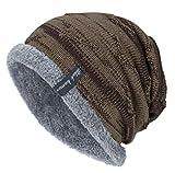 Sandanper Women Men Winter Warm Hat Causal Knit Cap Unisex Hats (Khaki)