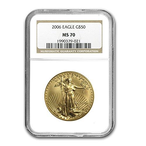 2006 1 oz Gold American Eagle MS-70 NGC 1 OZ MS-70 NGC