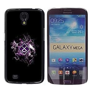 Smartphone Duro Carcasa PC para Samsung Galaxy Mega 6,3/funda TECELL tienda/advertencia de peligro