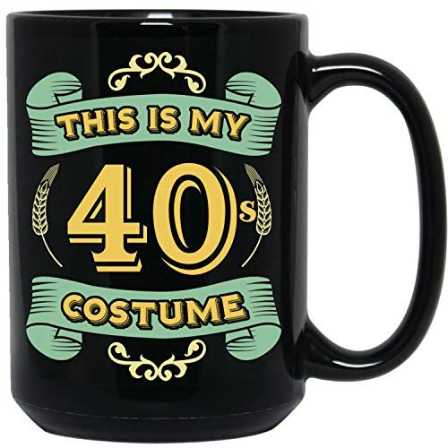This Is My 40s Costume - Funny Halloween 40 Birthday Gag Gifts Idea Black -