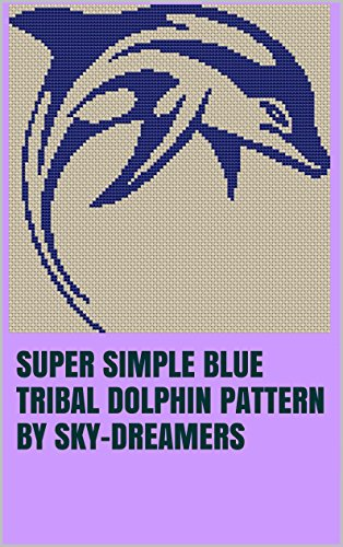 Super Simple Blue Tribal Dolphin Pattern by Sky-Dreamers