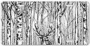 Kingsinoutdoor Personalized Aluminum License Plate Frame Cover Wildlife Carbon Drawing Deer Metal Auto Truck C
