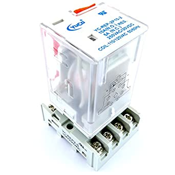 YC-REP-2P10-2 & YC-REP2-S ICE CUBE GENERAL PURPOSE RELAY OCTAL BASE on 8 pin relay circuits, 8 pin round base, 8 pin relay base, 8 pin time delay relays, 8 pin cube relay diagram, 8 pin relay socket diagram, 8 pin relay plug in, 8 pin relay connections,