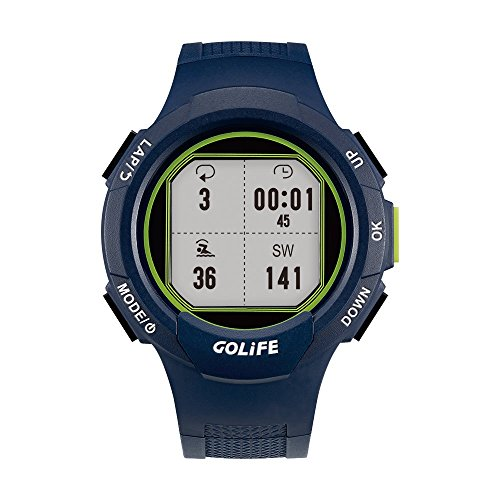 GOLiFE Fashion Thin GPS Smart sport Watch for Women and Men Runner with Heart Rate Motor Chronograph Stopwatch Alarm Clocks SMS App Notice (Navy Blue) by GoLife