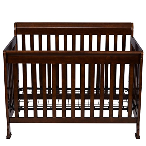 Coffee Pine Wood Baby Toddler Bed Convertible Crib Nursery Furniture Children by Happybeamy (Image #9)