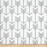 Premier Prints Arrow Twill White/Ecru Fabric By The Yard offers