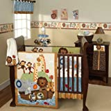 S. S. Noah 6 Piece Baby Crib Bedding Set with Bumper by Lambs & Ivy