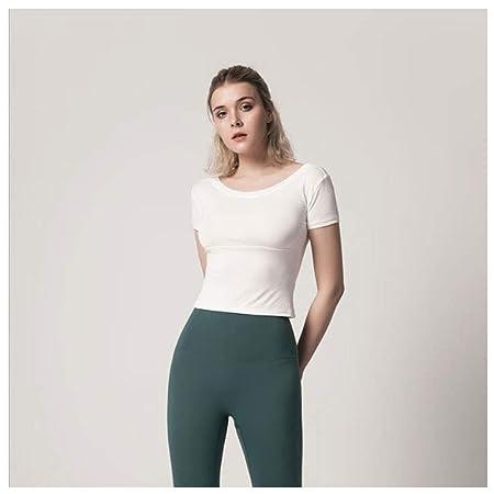 LDDOTR Camisetas de Yoga con Espalda Abierta, Camisas sin ...