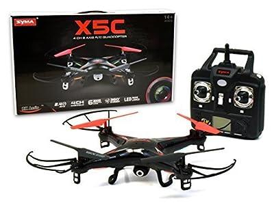 SYMA X5C 2.4 GHZ 4 Channel RC Remote Control UFO Drone Quadcopter with HD Video/Camera [RX Aerio Exclusive - Black]