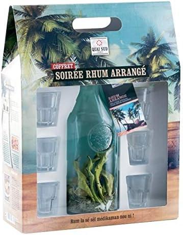 TotalCadeau - Caja para jarra con mezcla para Rhum y 6 vasos de chupito