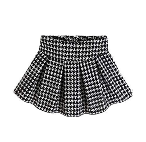 Women's Square Grid Polka Pleated High Waist Short Skirts Female Flower Skirt Women Clothing,5,One Size