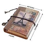 Leather Writing Journal Notebook, MALEDEN Vintage