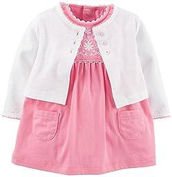 Carter\'s 2 Piece Dress Set (Baby) - Pink-24 Months