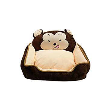 YNZYOG Caseta de perro lavable Teddy Bichon Dog Pet Casehouse Otoño Invierno Large Small Dog Golden Retriever Cama de perro Cat House (Color : Marrón ...