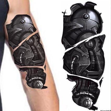 Amazon.com: Realistic Robot Arm Cyborg Temporary Tattoos Steampunk ...