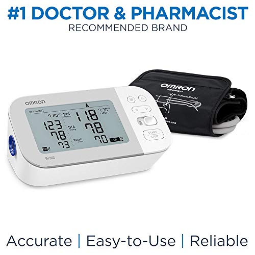 OMRON Gold Blood Pressure Monitor, Premium Upper Arm Cuff, Digital Bluetooth® Blood Pressure Machine, Stores Up to 120 Readings for Two Users (60 Readings Each)