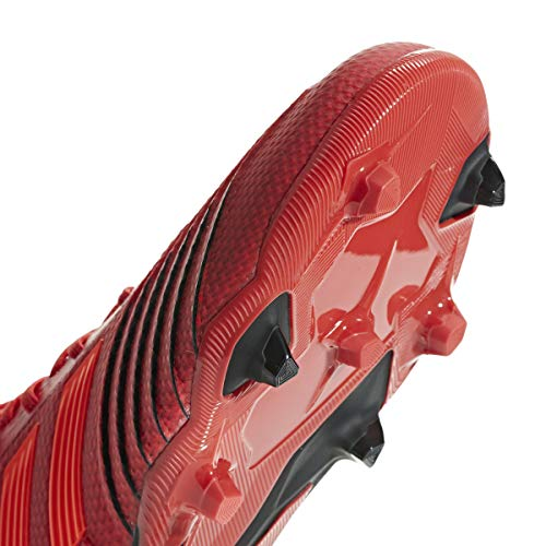 adidas Predator 19.1 FG Cleat Kid's Soccer, 4.0 D(M) US, Action Red-Solar Red-Black by adidas (Image #4)
