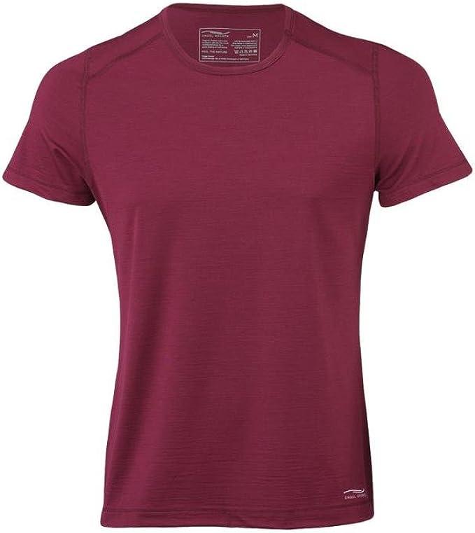 X-Large, Tango Red Engel Sports Mens Regular Fit T-Shirt 70/% Organic Merino Wool 28/% Silk Made in Germany