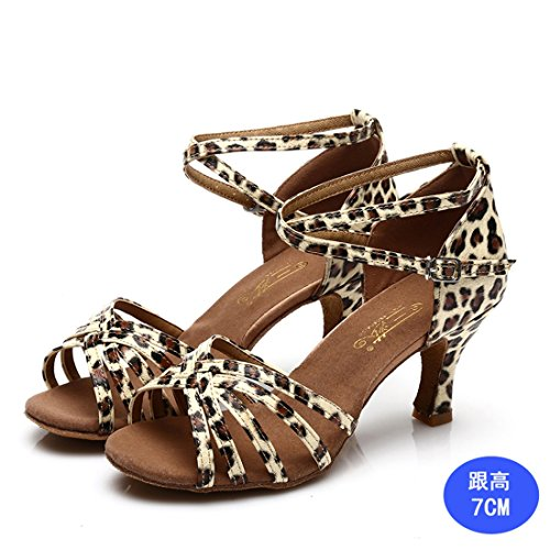 7cm House Bottom Dance Of The Women's 7cm In Shoe Shoes WXMDDN In Color Dance Print Dance Leopard Shoes Heeled Leopard High Soft Dance Latin Shoes Of zTwBxR