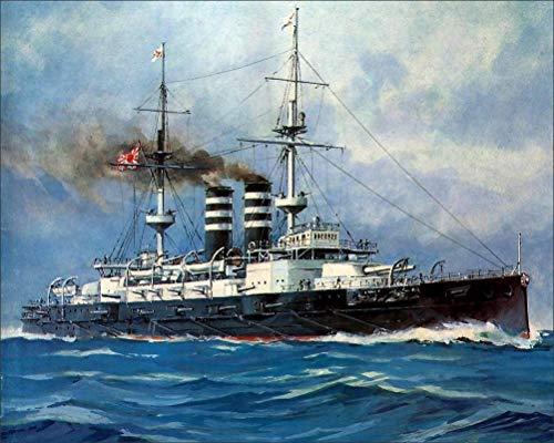 Military Painting Art Ships IJN Mikasa Wall Art, Pop Art, Poster, Art Prints   Rare Posters