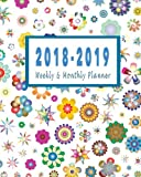 2018-2019 Weekly & Monthly Planner: July 2018 to