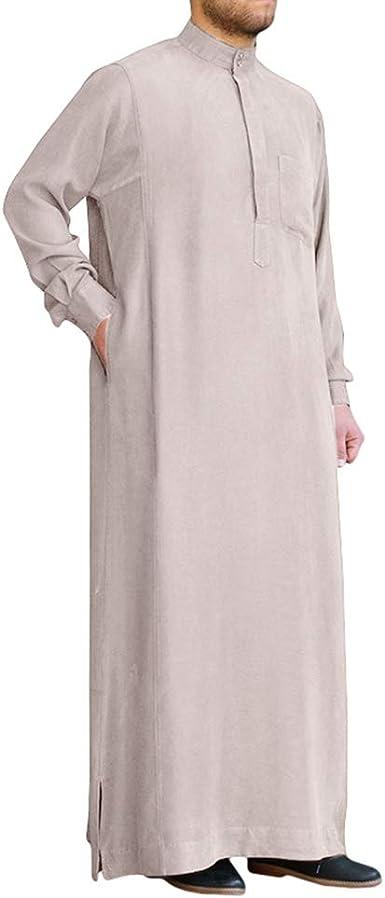 Hombre Ropa Etnica Musulmana étnico Suelta Manga Larga Oriente Medio Saudita Largo Camisa Arabe Dubai Maxi Vestido S-3XL: Amazon.es: Ropa y accesorios