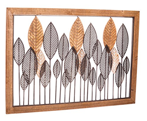 Cape Craftsmen Leaves Metal and Wood Wall Décor