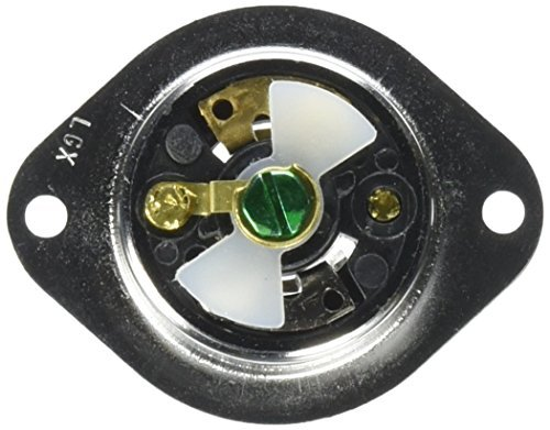(Hubbell HBL7595 Locking Flanged Inlet, Midget, 15 amp, 125V, Ml-2P by Hubbell)
