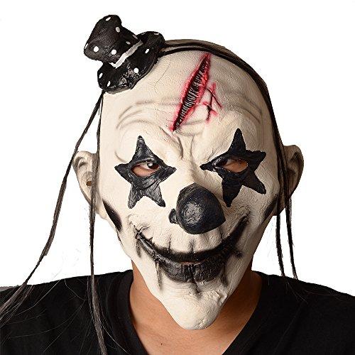 [Happy Halloween Scary Clown Masks, Latex Masks] (Latex Alien Mask)