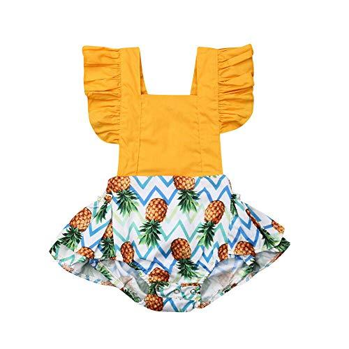 Genlei Baby Girls Pineapple Romper Summer Clothes