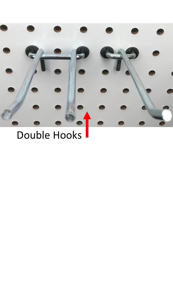 1//4 inch, White Pegitz Pegboard Peg Locks