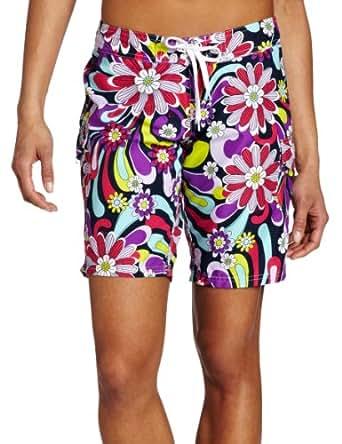 Kanu Surf Women's Imagine Swim Shorts, Purple, 0