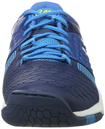 Asics Gel-Blast 7, Scarpe da Pallamano Uomo Blu (Blue Jewel/White/Safety Yellow 4301)